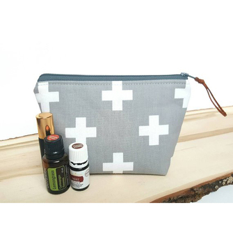 Travel oil carry clutch canvas essential oil storage bag