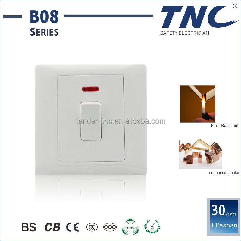 High Quality Safety Care Wall Switch With Neon Indicator Light