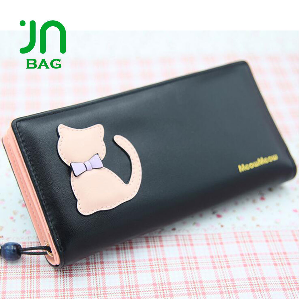 JIANUO Flap women lovely cute wallet ladies coin purse wallet