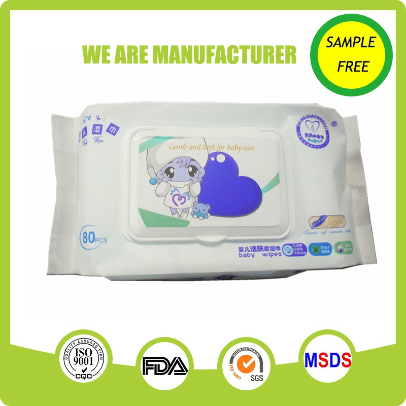 Alcohol free OEM custom large pack baby wipes/wet wipes/baby tissue