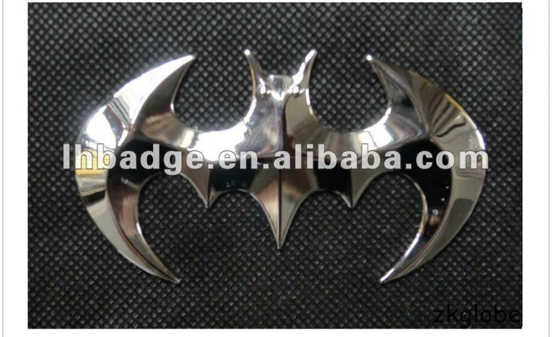 batman bat badge sticker,3d logo decal emblem, metal car sticker