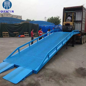 10 t mobile carrello elevatore idraulico rampa di carico for Rampe di carico per container