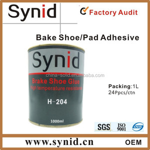 Brake bonding adhesive for brake shoe brake lining