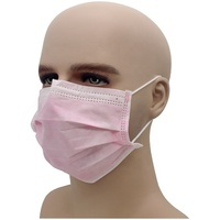 Non woven clean room 3layer PP disposable doctor nurse anti dust anti pollen laboratory cleaning face mask for hospital