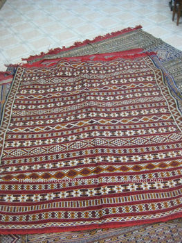 Antique Moroccan Tribal Berber Kilim