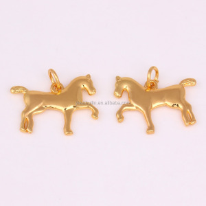 IMG 7795 Yiwu Huilin jewelry New design gold plated running 3D horse necklace pendant