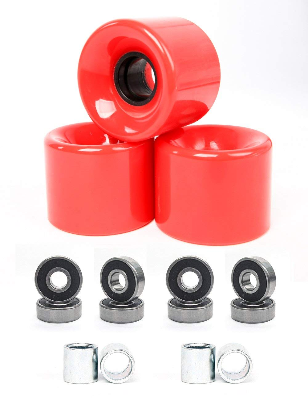 10pcs Skate Wheel Bearing Stepped Spacer Inline or Aluminum Spacers for in-line Skates Accommodate The 8 mm Bearings with 6 mm Axles Asixx Bearing Spacers