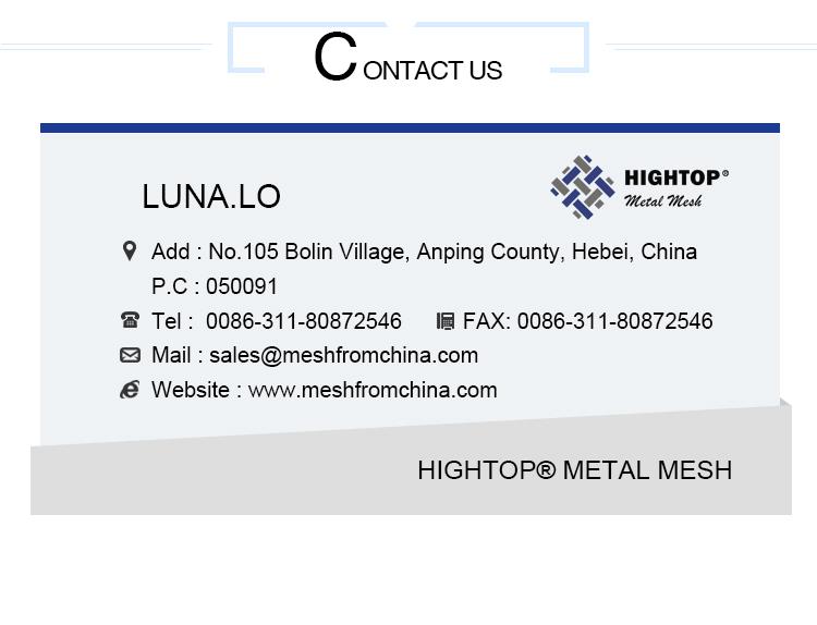 15mm perfor stainless steel metal mesh filter siev screen