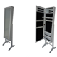 Home Mirror Jewelry Cabinet with Stand Black Backside
