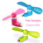 USB mini Fan Custom Logo Promotional Gifts Portable Phone Fan for iPhone and Samsung