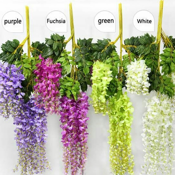 Artificial Silk Wisteria Home Garden Hanging Flowers Plants 43