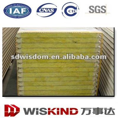 Fireproof insulation Glass Wool Metal Sandwich Panels for wall