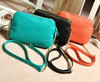 Women's soft candy color prom designer leather handbags
