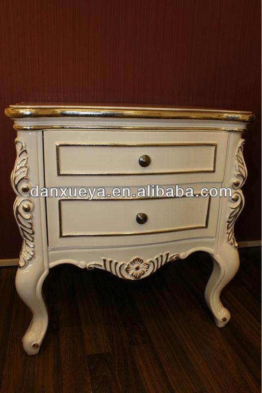 Europea Blanco Marfil Clásico Muebles De Dormitorio Mesitas Th01 ...