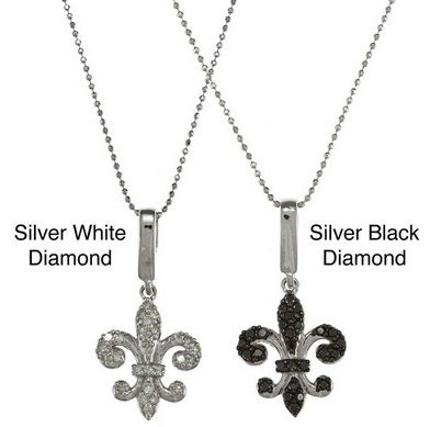 925 Sterling Silver Fleur de Lis Charm