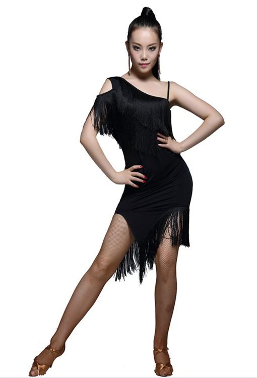 Женская Одежда для танцев производительность бальных танцев Бахрома  Кисточкой костюмы латиноамериканских танцев платье 361717d939b