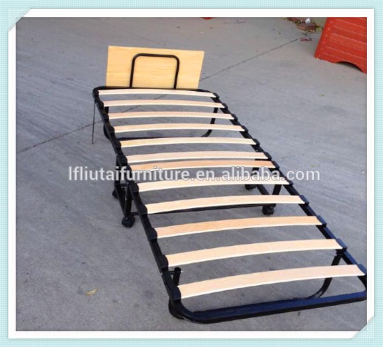 folding bed frame metal slat fold up bed - Fold Up Bed Frame