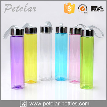 christmas promotion water bottle slim water bottle clear sports bottle