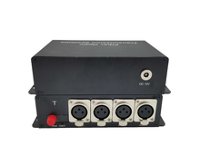 4ch unidirectionele xlr <span class=keywords><strong>gebalanceerde</strong></span> <span class=keywords><strong>audio</strong></span> over fiber extender voor broadcast intercom systeem