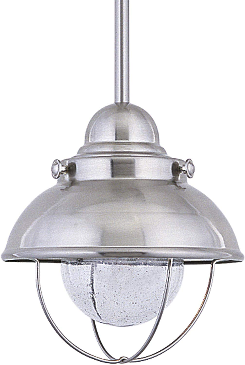 Sea Gull Lighting 615093S-98 Sebring Outdoor Pendant, 1-Light LED 9 Watts, Brushed Stainless