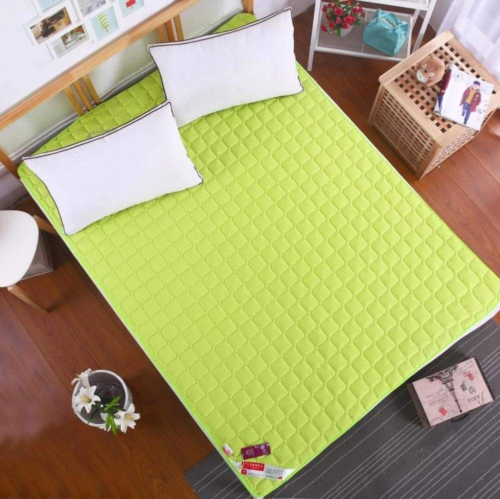 Breathable Ultra-Thin Mattress, Summer Cool Double Sleeping mat Tatami Floor mat Soft Comfortable Non-Slip Mattress-Green 90x200cm(35x79inch)