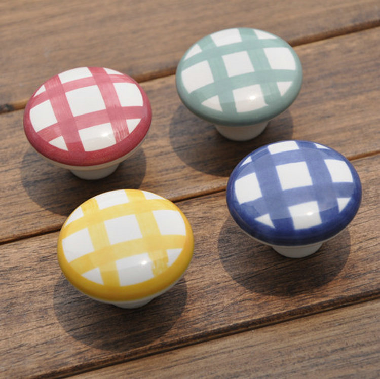 Country Kitchen Cabinet Knobs: 5pcs 38mm Country Style Garden White Kitchen Cabinet Knobs
