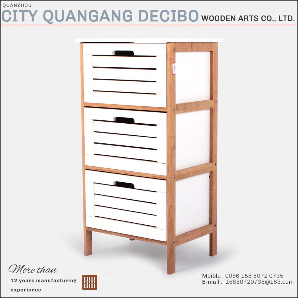 2017 hot sale cheap modern wooden bamboo office furniture 3 drawer file cabinets storage prices