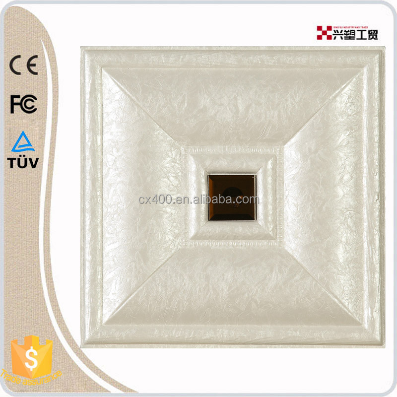 high quality leather material 3d wall panel