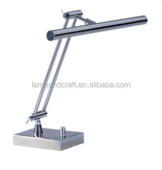 Adjule Modern Office Led Metal Desk Lamp With Outlet And Usb Port