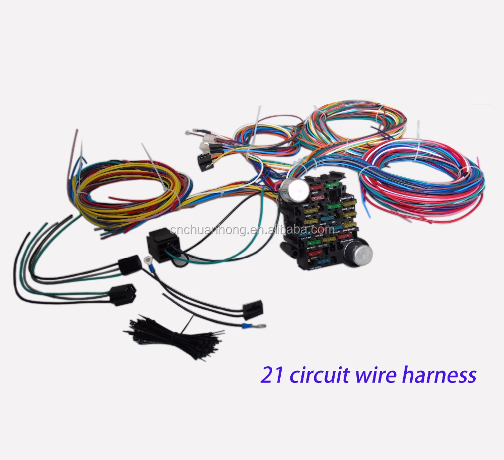 Wholesale Electrical Fuse Wire Online Buy Best Mopar Harness 21 Circuit Wiring Chevy Ford Hotrods Universal Extra Long Strongwires