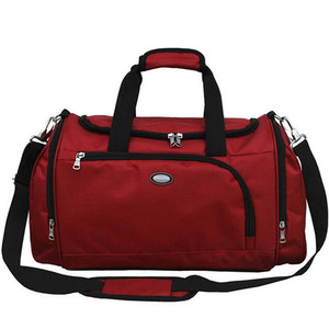 Customized Logo Travel 420D Nylon Duffel Bag With Shoe Compartment