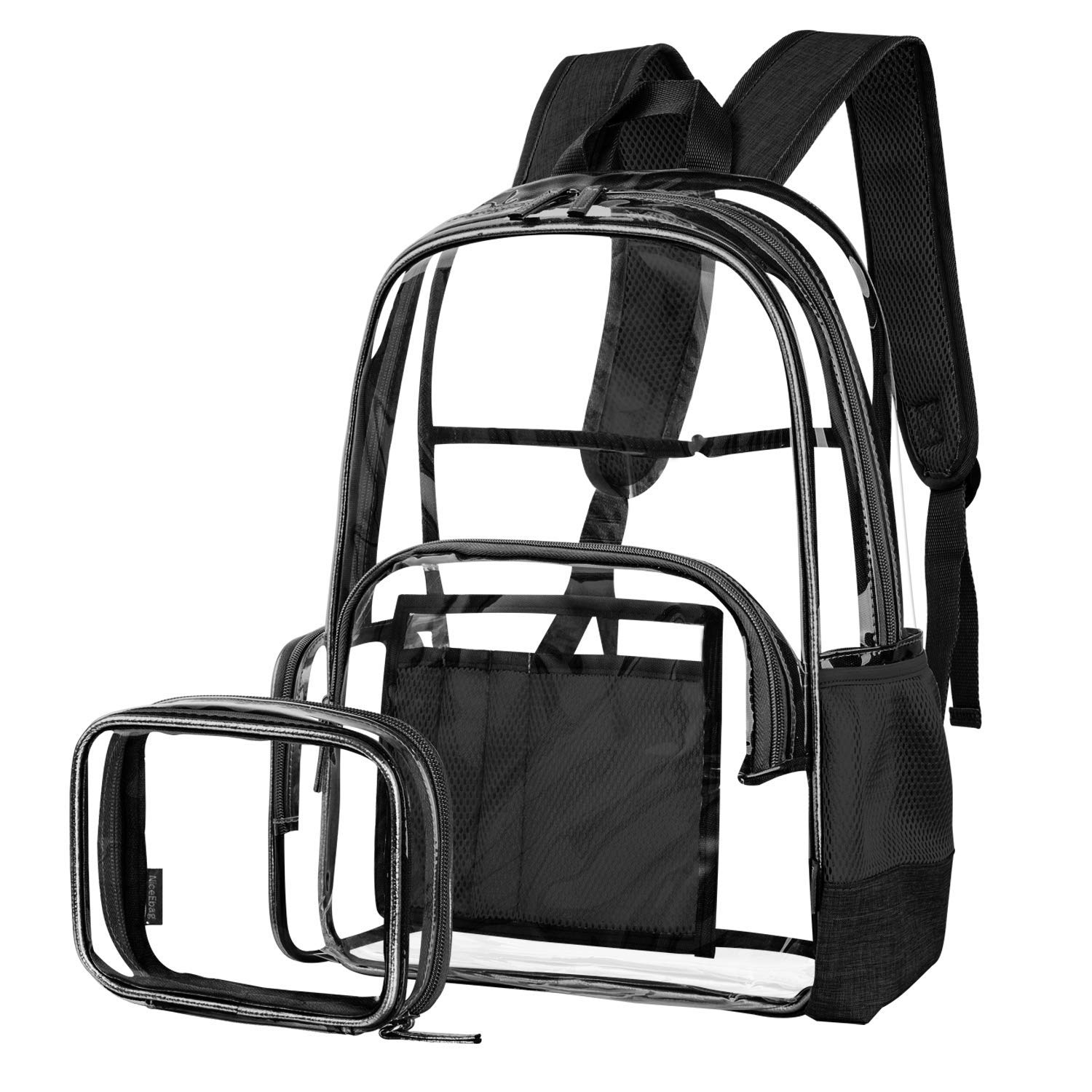 Get Quotations · Clear Backpack for Women and Men Fit 15.6 inch Laptop  College Bookbag for Student Cute School 92a717efa1