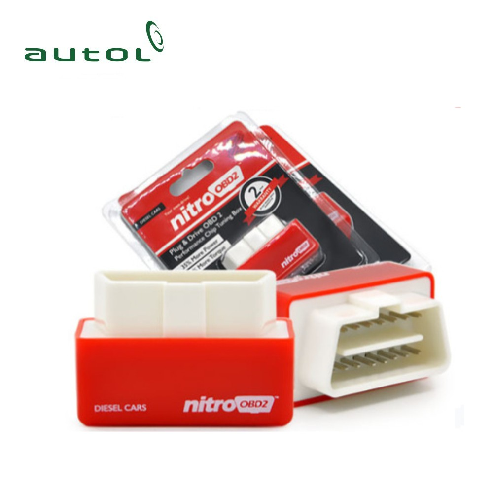 Super Nitro OBD2 Chip Tuning Box For Diesel Cars Plug and Drive OBD 2 More Power / More Torque NitroOBD2 Interface