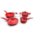 New designer 5pcs aluminum nonstick cookware set popular in India Market cooking pans and pots with soft touch handle