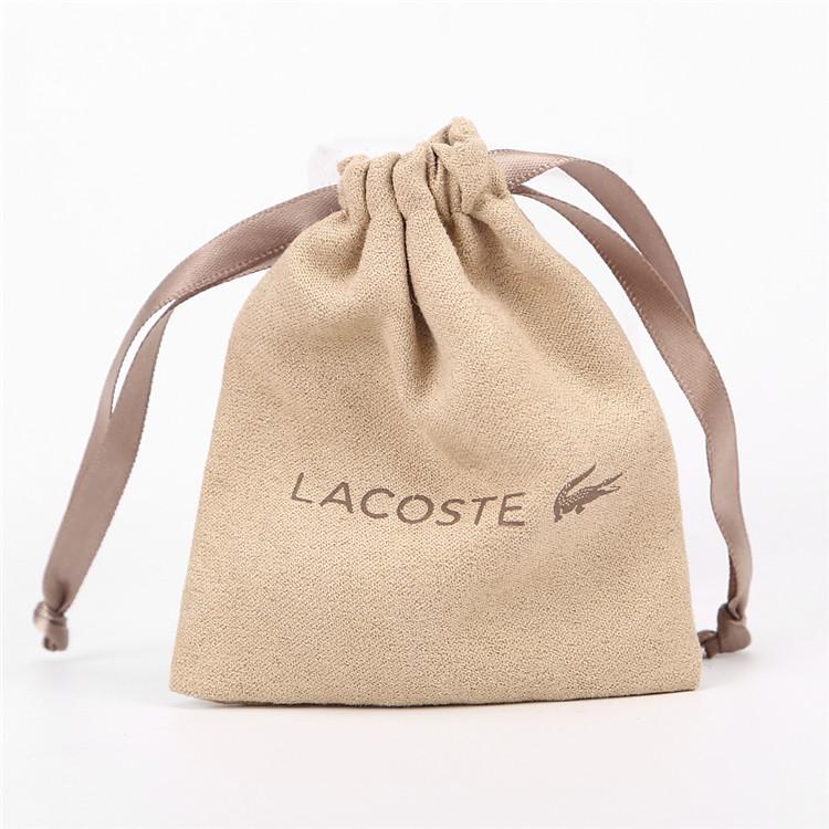 エコカスタム食品グレードコットン巾着バッグキャンバス携帯電話バッグコットンジュエリーバッグ用ロゴ付きジュエリーパック