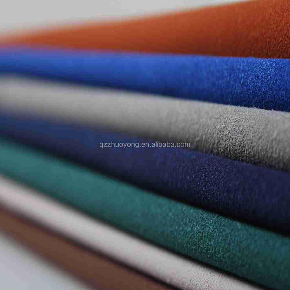 High quality cow leather cow split flocking fabric for shoes bags