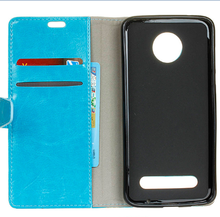 Wallet Leather Case For Moto Z2 Play ,Flip Cell Phone Cases Fot Moto Z2 Play Mobile Phone Cover With Card slot Stand