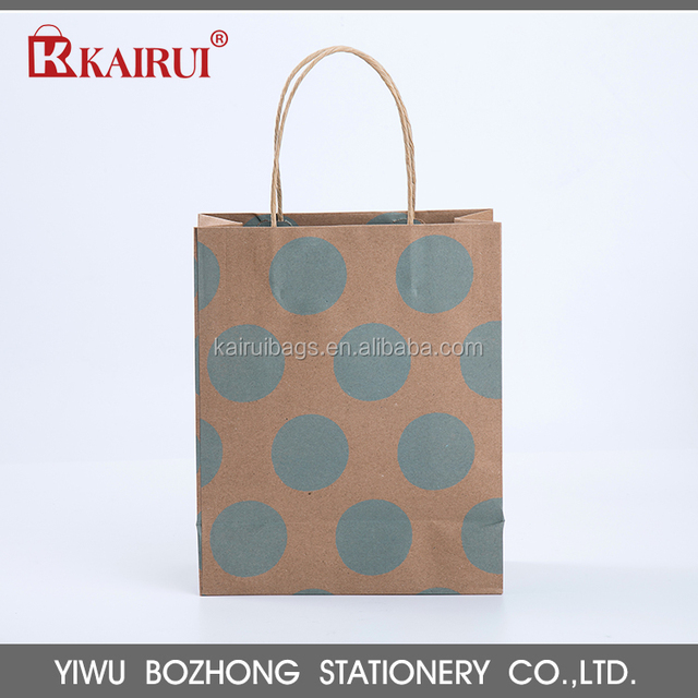 good quality kairui 100% recyclable kraft paper bag brown kraft paper bag
