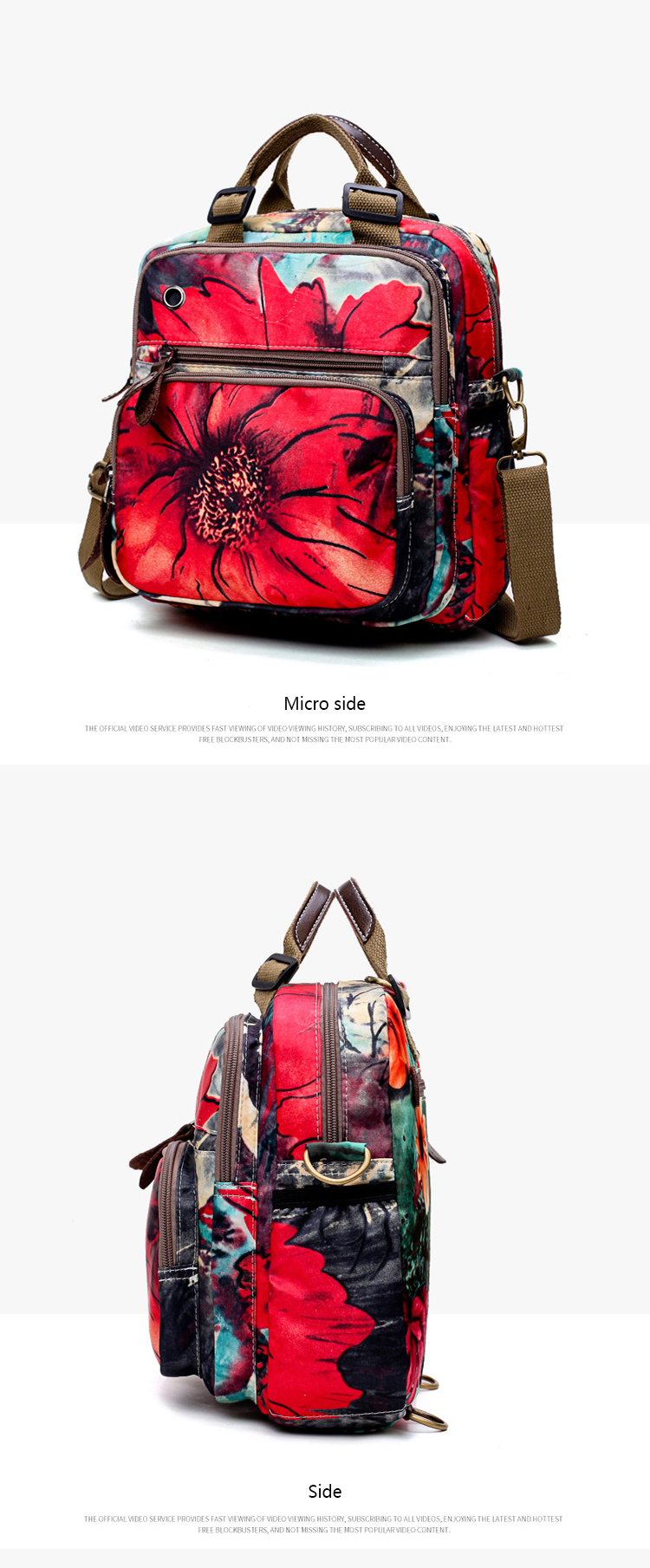Osgoodway2 Newest 2019 Floral Baby Bag Multifunctional Diaper Bag Backpack for Baby Care