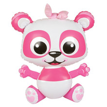 NEW INFLATABLE BLOW UP PINK PANDA JUNGLE ZOO FOREST ANIMAL POOL PARTY TOY! 24""