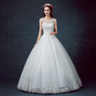 Z11671A Korean Lace Up Ball Gown Quality Wedding Dresses 2017 Alibaba Customized Plus Size Bridal Dress