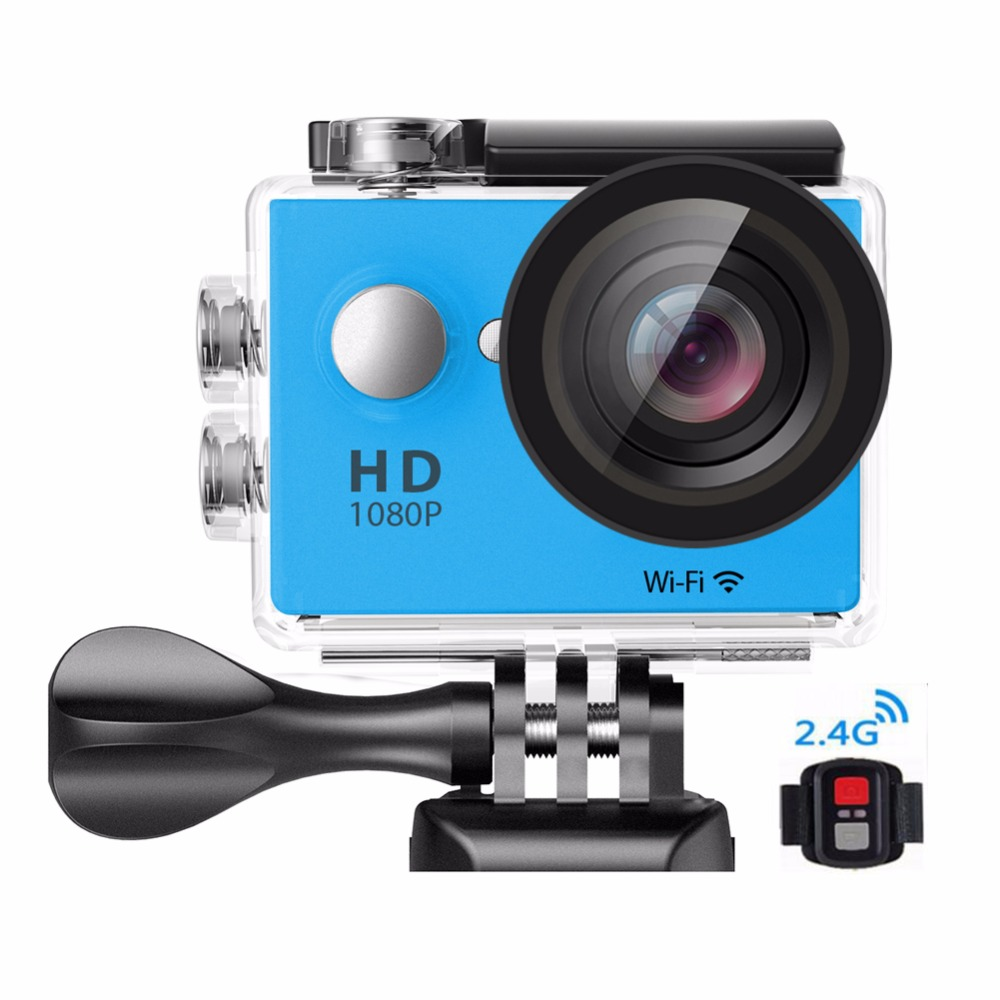 2017 high quality Original Action Camera Ultra 4K/30fps Sports Camera W9 12MP 170 degree wide lens Dual LCD display