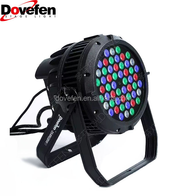 Dovefen IP65 RGBW 4in1 LED Par Light Outdoor Use Wedding Party Disco Stage Decoration