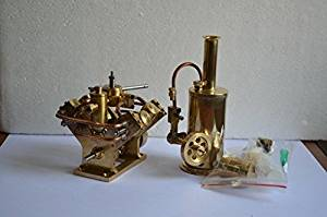 Buy Steam Engine Kit V4-cylinder Steam Engine+ Small Steam