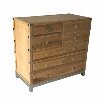 european french style solid oak wooden storage cabinet natural style wooden chest of drawers