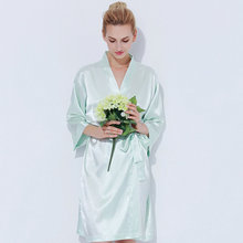 Silk Satin Robe de Mariage for Wedding Party Bride and Bridesmaid