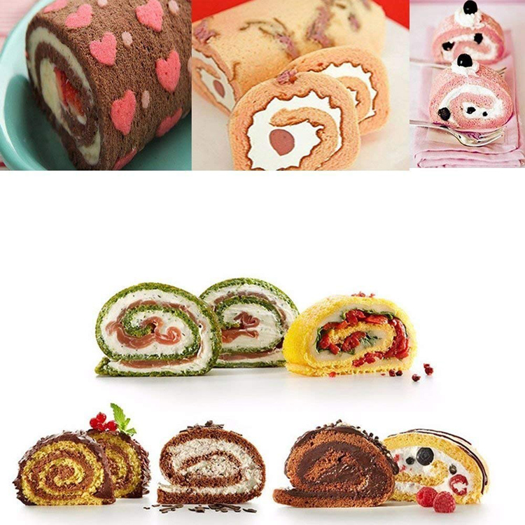 OEM High Quality 100% Food Grade Silicone Swiss Roll Cake Mat