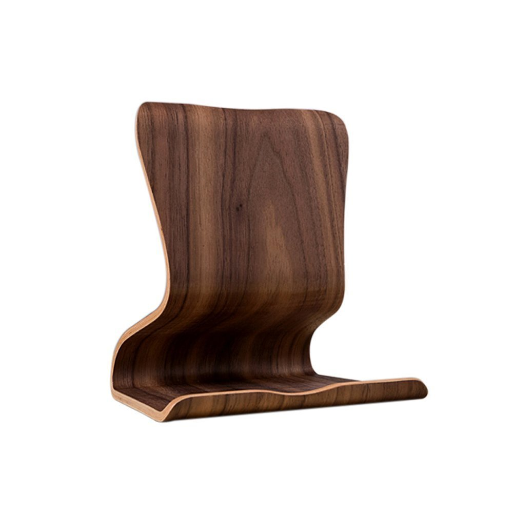 SAMDI Tablet Stand Holder Natural Wood Stand for Ipad Mini Ipad Air /Pro and Most Android Tablets (Walnut)