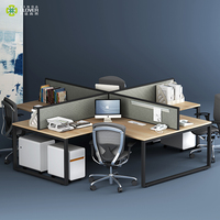 4 Seats Used Metal Office Furniture Modular Office Desk And Workstations For Sale