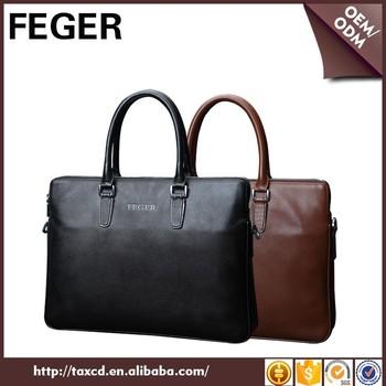 Thin Black Men Bag Briefcase Genuine Leather Business Man Bag Buy